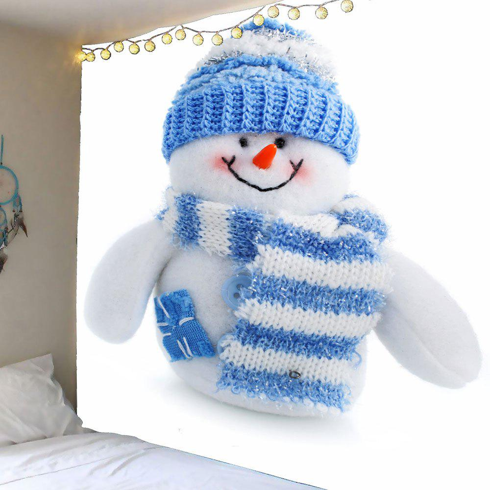 Waterproof Cute Snowman Printed Wall Tapestry - BLUE/WHITE W79 INCH * L79 INCH