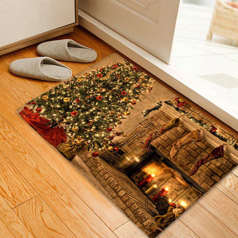 Christmas Tree Fireplace Pattern Anti-skid Indoor Outdoor Area Rug 235036101
