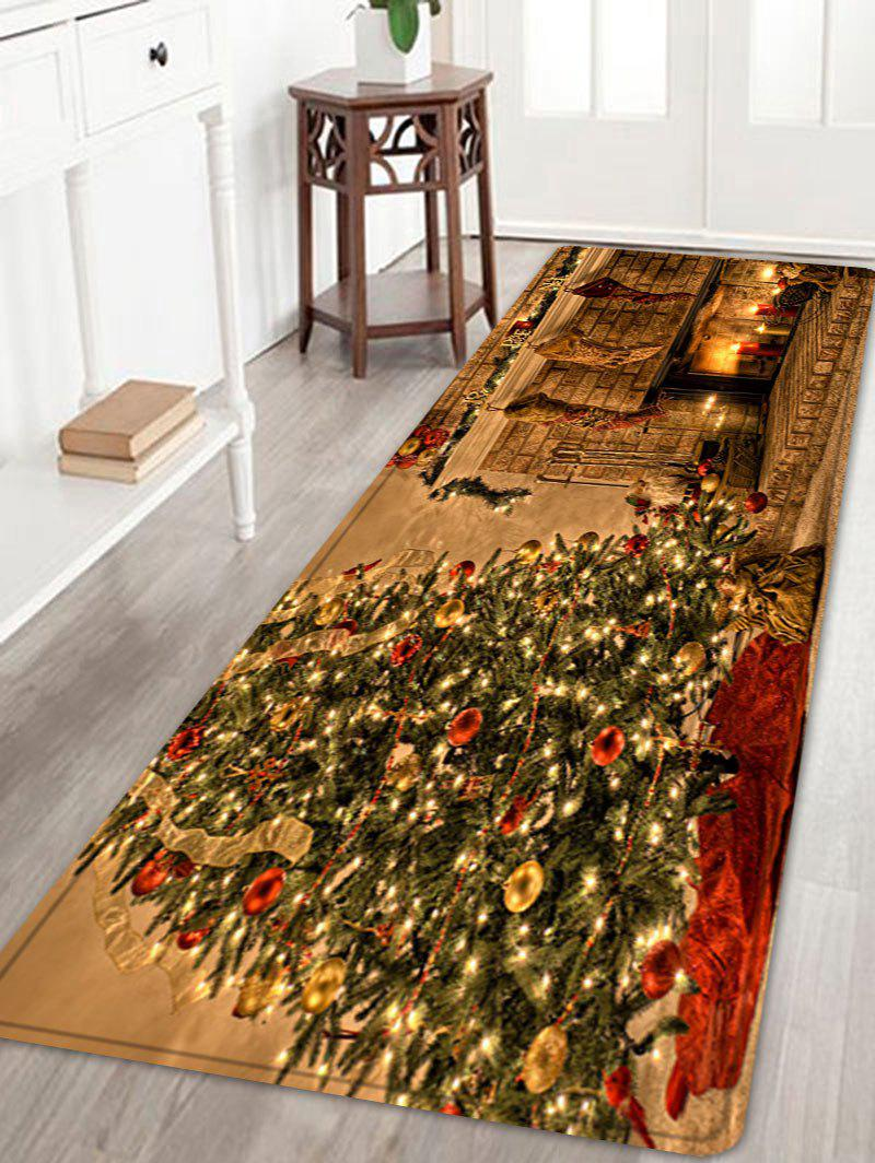 Christmas Tree Fireplace Pattern Anti-skid Indoor Outdoor Area Rug 235036104