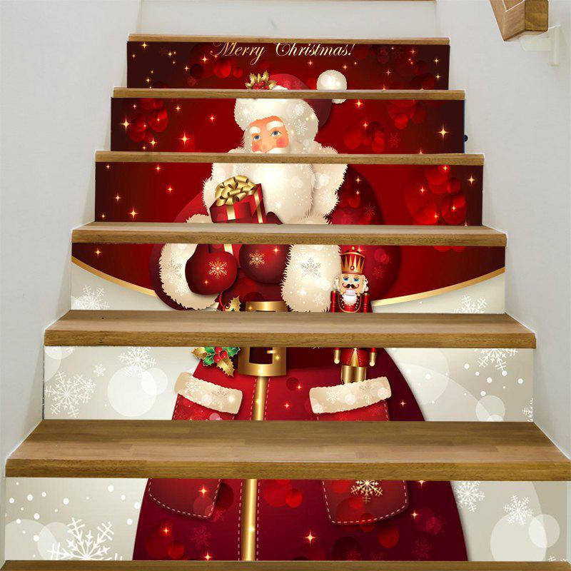Santa Claus Patterned Stair Stickers merry christmas santa claus pattern stair stickers