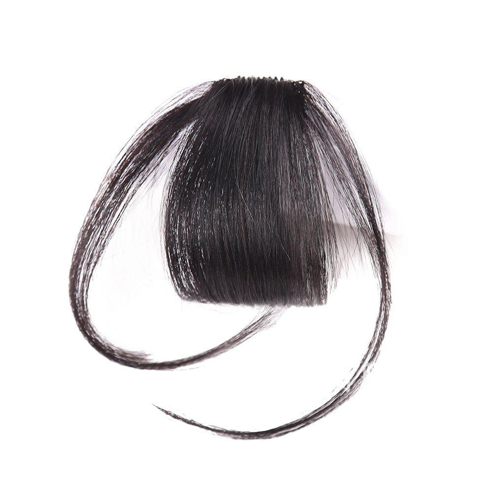 Short Clip-in See-through Fringe Human Hair Piece With Temples