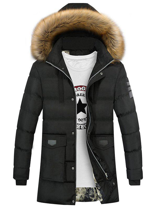 Faux Fur Collar Zip Up Pocket Down Coat 2014 children s clothing baby down coat set large fur collar red male