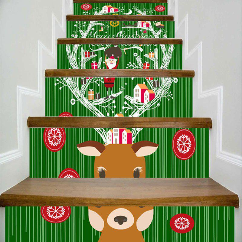 Christmas Cartoon Animal Printed DIY Decorative Stair Stickers diary life cartoon food decorative stickers adhesive stickers scrapbooking diy decoration diary stickers