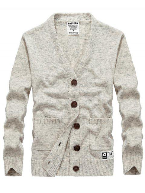 Button Up Cashmere V Neck Cardigan - PALOMINO 3XL