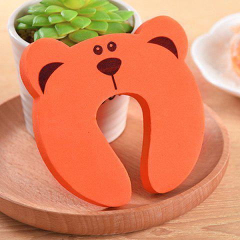 Baby Safety Cartoon Gate Card Security Door Stopper Clip - ORANGE