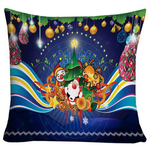 Christmas Theme Printed Decorative Throw Pillow Case - BLUE W18 INCH * L18 INCH