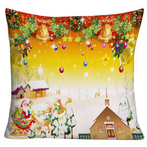 Christmas Graphic Square Decorative Pillowcase - COLORMIX W18 INCH * L18 INCH