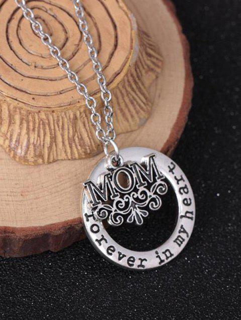 Circle Engraved Forever in Heart Family Necklace - PATTERN A