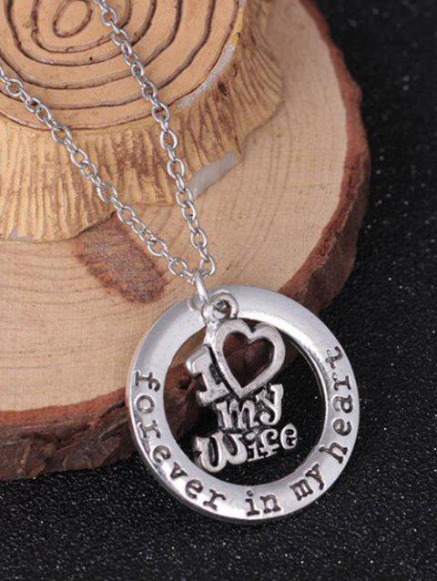 Circle Engraved Forever in Heart Family Necklace - PATTERN C