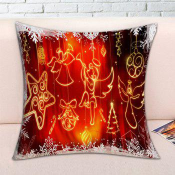 Christmas Angel Ornaments Print Decorative Pillowcase - RED RED