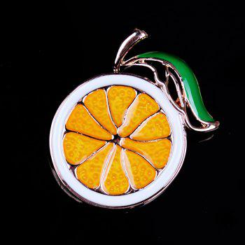 Alloy Fruit Orange Cute Brooch - GOLDEN