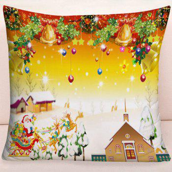 Christmas Graphic Square Decorative Pillowcase - COLORMIX W17.5 INCH * L17.5 INCH