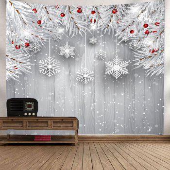 Wall Decor Christmas Snowflake Printed Tapestry - SILVER GRAY W79 INCH * L59 INCH