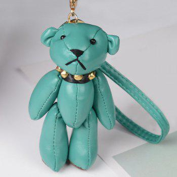 Cute Artificial Leather Bear Keychain - GREEN GREEN