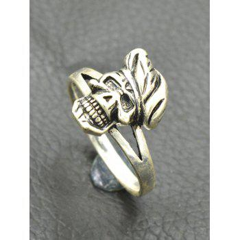 Alloy Cool Skull Finger Ring - SILVER ONE-SIZE