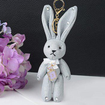 Rhinestone Rabbit Cute Keychain - WHITE WHITE