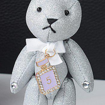 Rhinestone Rabbit Cute Keychain -  WHITE