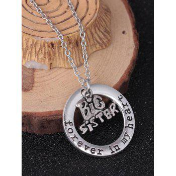 Circle Engraved Forever in Heart Family Necklace - PATTERN B PATTERN B
