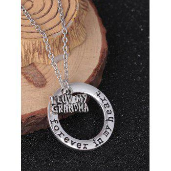 Circle Engraved Forever in Heart Family Necklace - PATTERN E PATTERN E