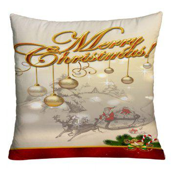 Christmas Sled Hanging Balls Printed Decorative Pillow Case - COLORMIX COLORMIX