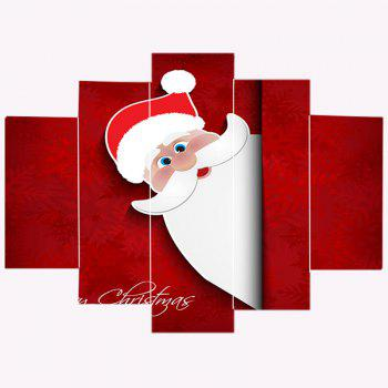 Cartoon Santa Claus Decorative Wall Stickers - COLORFUL 1PC:8*20,2PCS:8*12,2PCS:8*16 INCH( NO FRAME )