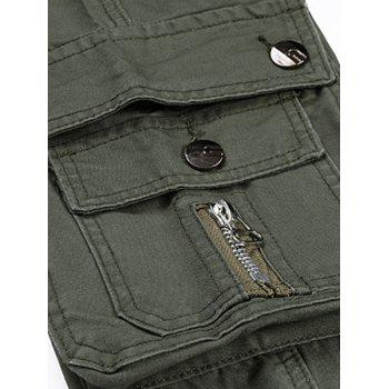 Zipper Fly Multi Pockets Cargo Pants - ARMY GREEN 36