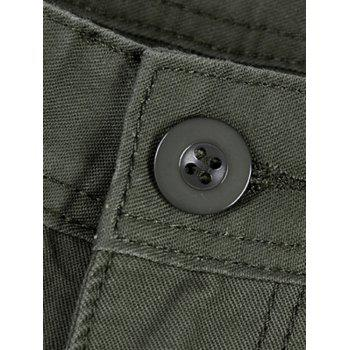 Zipper Fly Multi Pockets Cargo Pants - ARMY GREEN ARMY GREEN