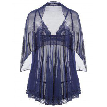 Slip See Through Mesh Babydoll - MIDNIGHT MIDNIGHT