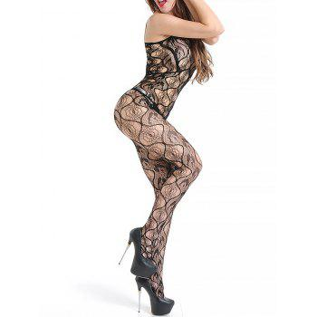 Fishnet Sleeveless Slip Lingerie Bodystockings - BLACK ONE SIZE