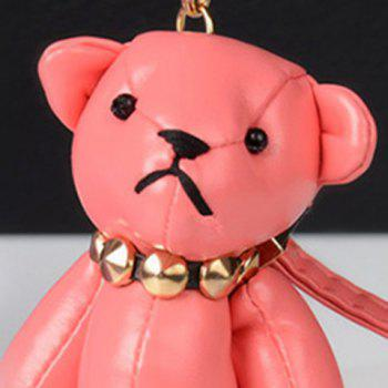 Cute Artificial Leather Bear Keychain -  WATERMELON RED