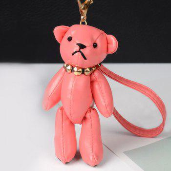 Cute Artificial Leather Bear Keychain - WATERMELON RED WATERMELON RED