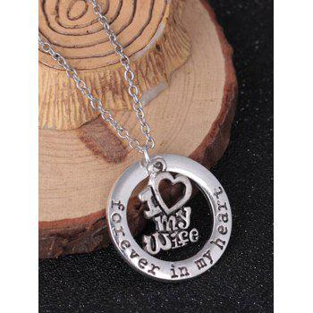 Circle Engraved Forever in Heart Family Necklace - PATTERN C PATTERN C