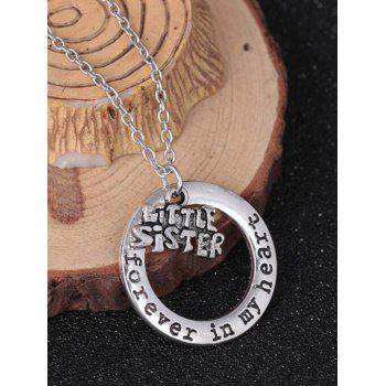 Circle Engraved Forever in Heart Family Necklace - PATTERN F PATTERN F
