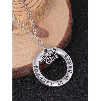 Circle Engraved Forever in Heart Family Necklace - PATTERN G PATTERN G