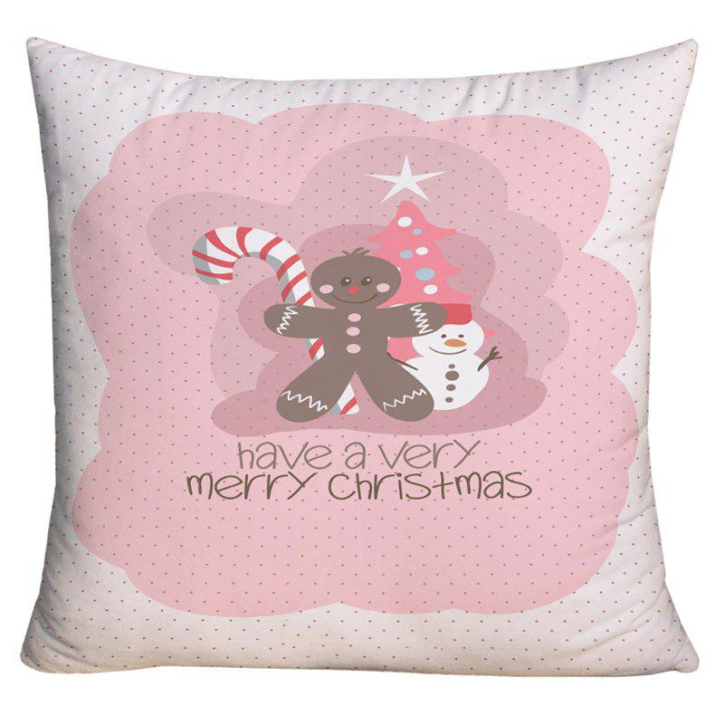 Merry Christmas Elements Print Decorative Pillowcase - COLORMIX W18 INCH * L18 INCH