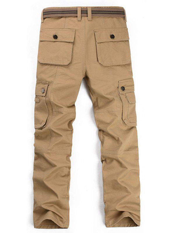 Pantalon Zipper Fly multi poches cargo - Kaki 40