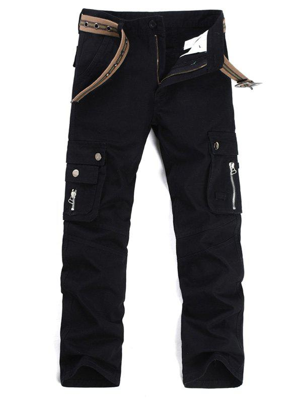 Pantalon Zipper Fly multi poches cargo - Noir 36