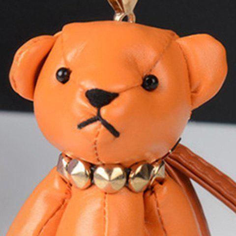 Cute Artificial Leather Bear Keychain - JACINTH