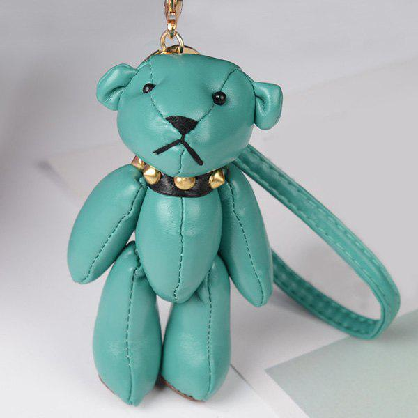 Cute Artificial Leather Bear Keychain - GREEN