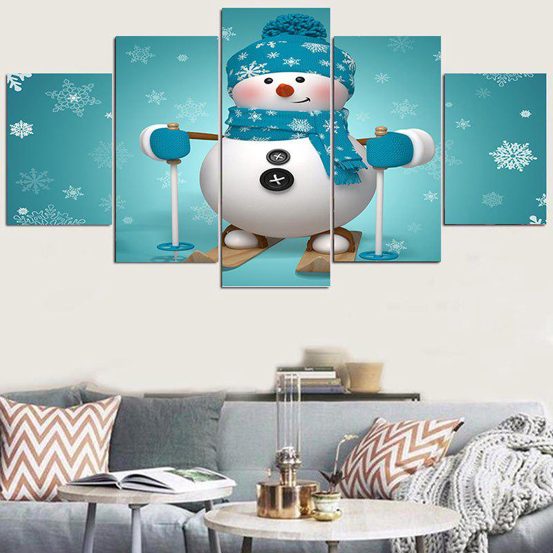 Skiing Snowman Patterned Wall Stickers skiing snowman pattern wall art stickers