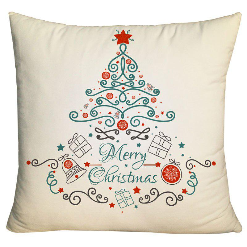 Christmas Elements Tree Print Decorative Pillowcase - PALOMINO W18 INCH * L18 INCH