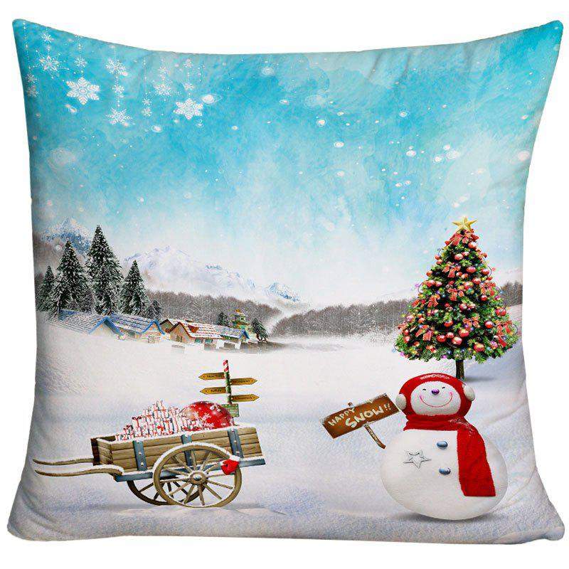 Christmas Snowscape Print Decorative Throw Pillowcase - COLORMIX W18 INCH * L18 INCH