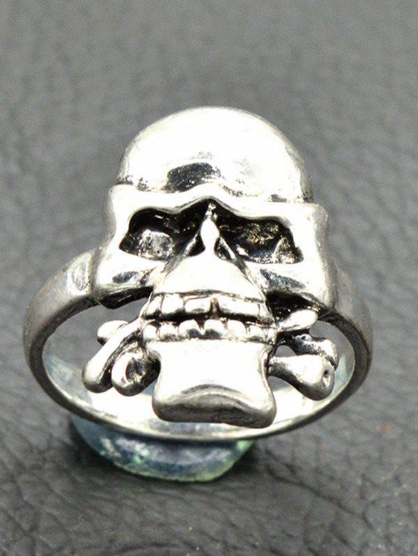 Vintage Skull Circle Finger Ring - SILVER 8
