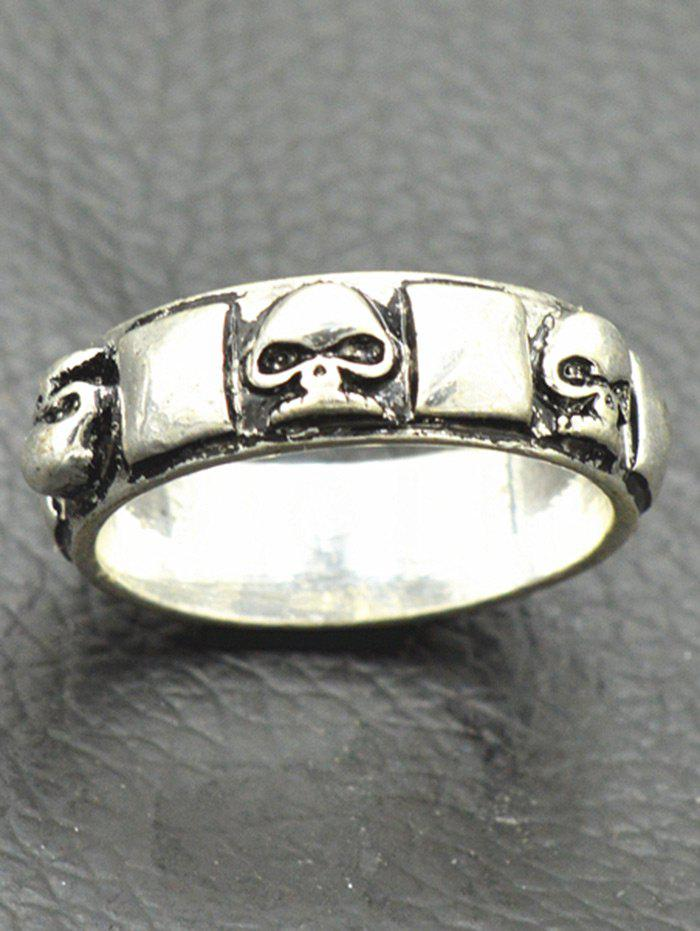 Alloy Skulls Geometric Vintage Finger Ring - SILVER ONE-SIZE