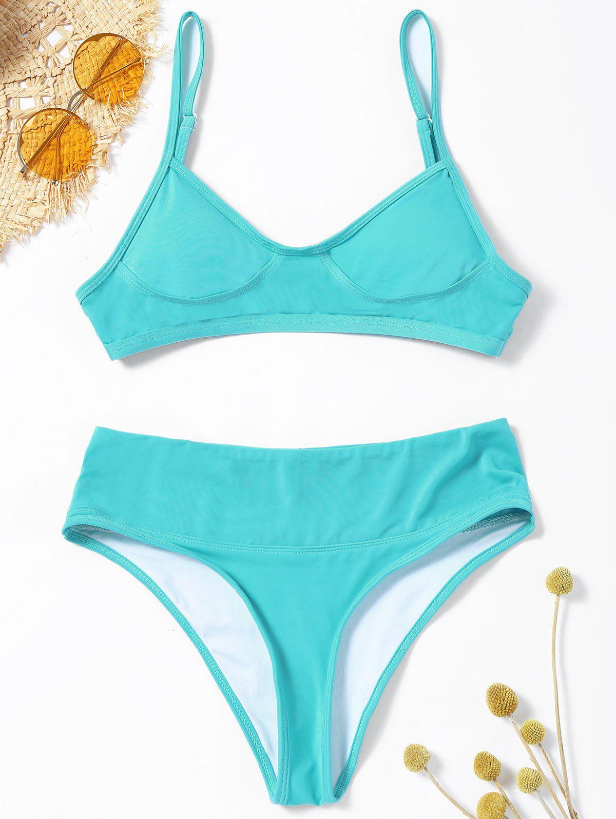 цены High Leg Cami Strap Bikini Set