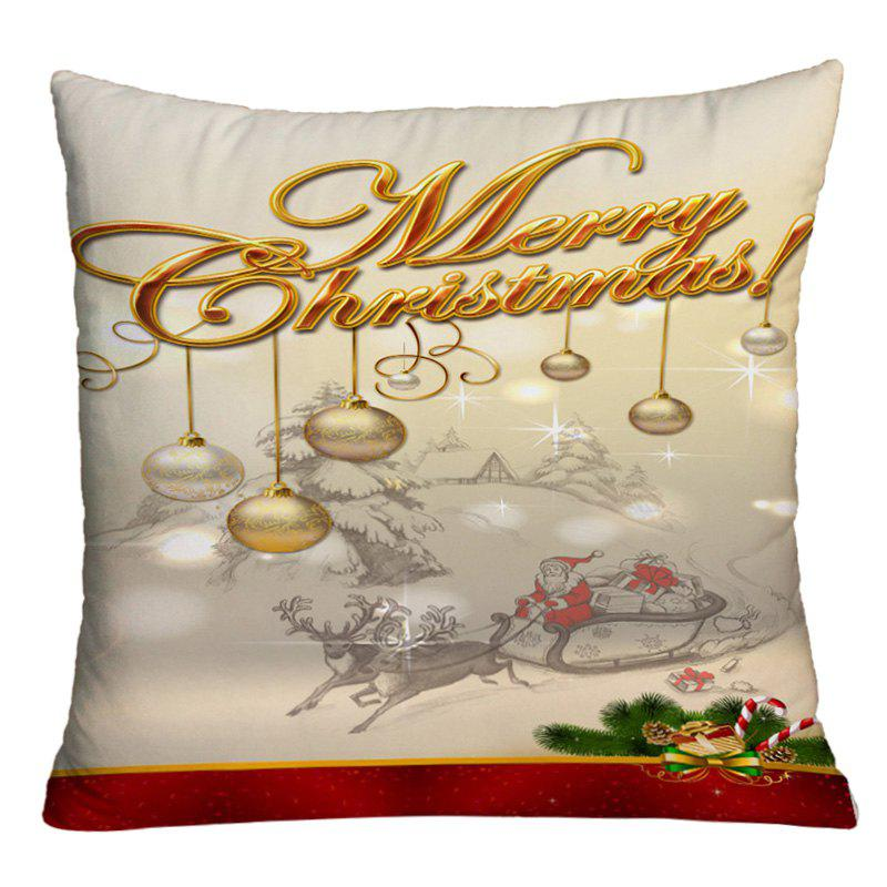Christmas Sled Hanging Balls Printed Decorative Pillow Case - COLORMIX W18 INCH * L18 INCH