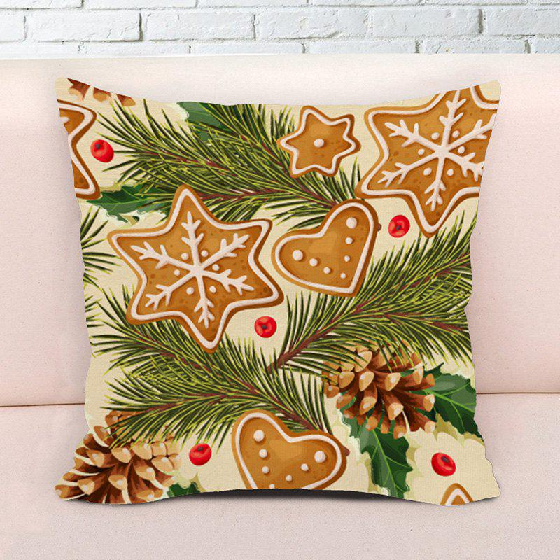 Novelty Christmas Graphic Decorative Square Pillow Case - COLORMIX W17.5 INCH * L17.5 INCH