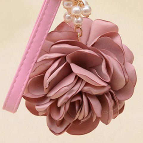 Faux Pearl Flower Vintage Keychain - DEEP PINK