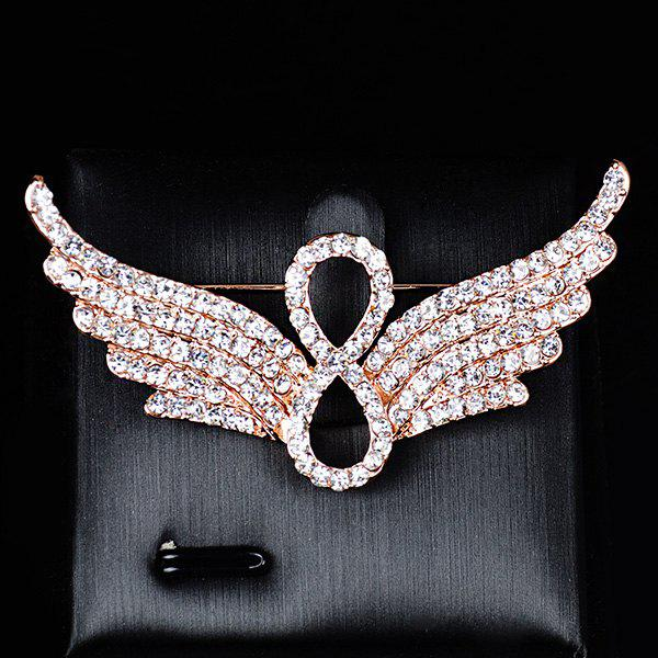 Ailes d'ange strass Broche infinie - Or