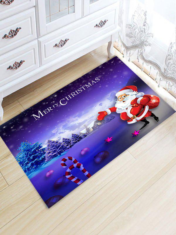 Santa Claus Pattern Christmas Flannel Nonslip Bath Mat цена 2017